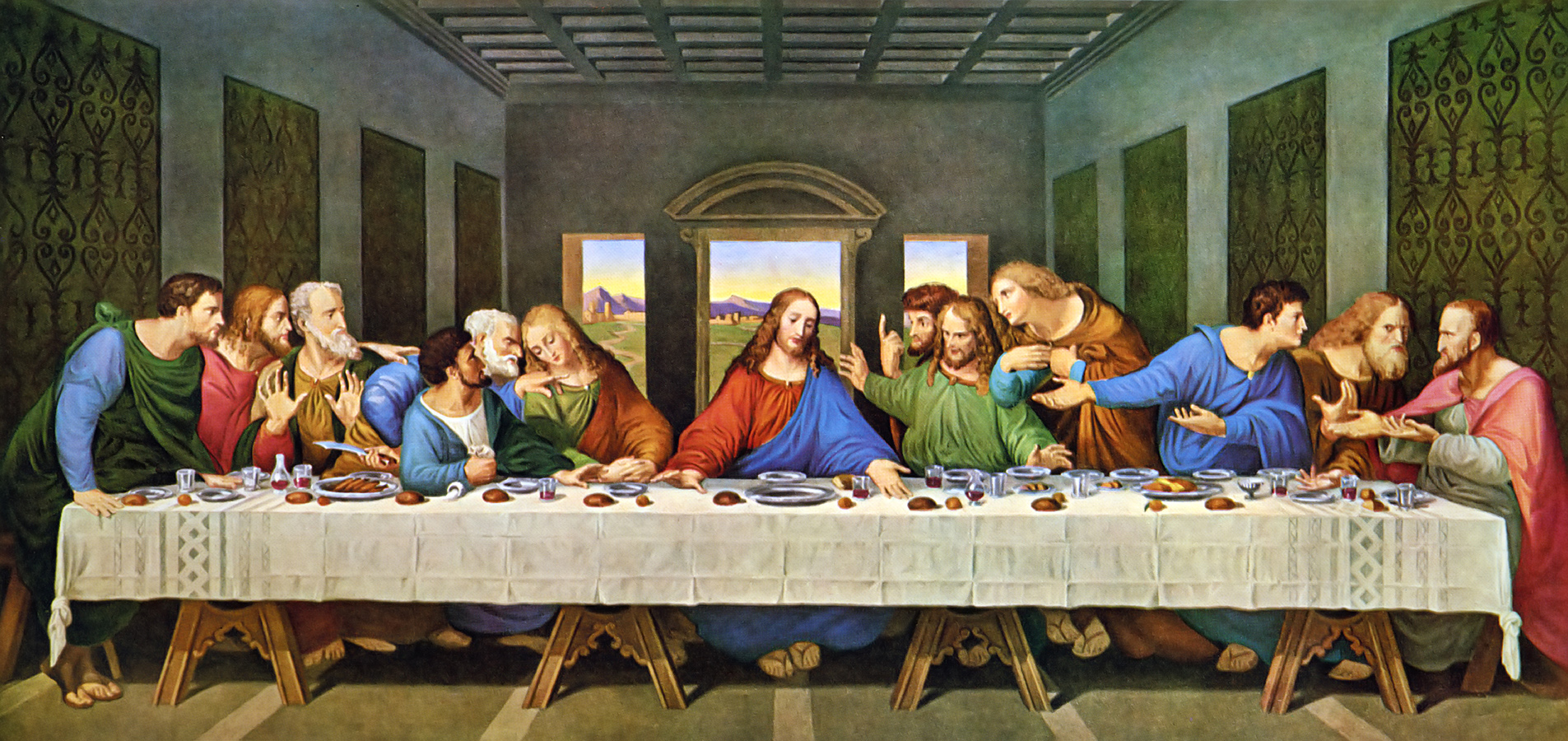 the symbolism of lords hands in the last supper by leonardo da vinci The last supper overview the last supper was created in the late fifteenth-century, between 1494 and 1498, by leonardo da vinci the painting is a mural painting in the refectory of the convent of santa maria delle grazie, milan the painting is 181 inches by 346 inches and was made with tempera on gresso, pitch.