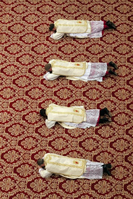 Four newly named archbishops attend the Epiphany Mass St. Peter's Basilica Vatican City