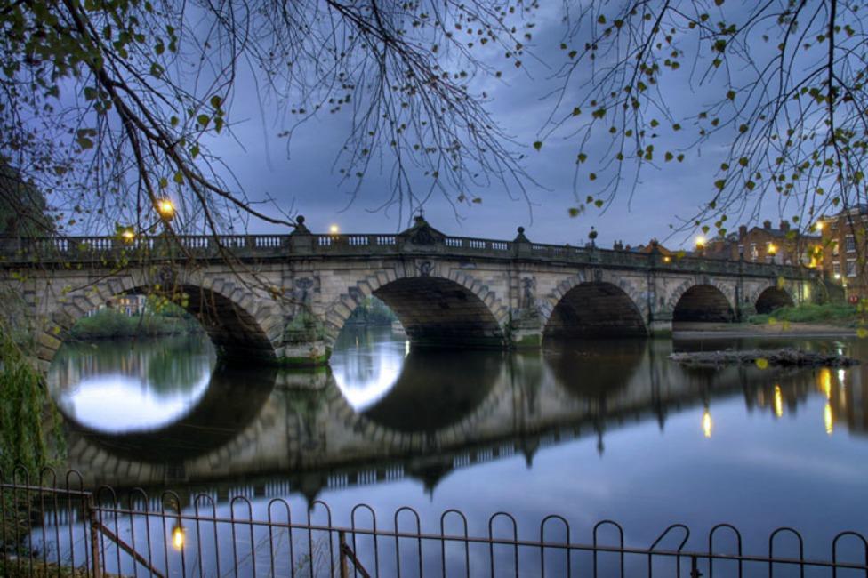 English Bridge, Shrewsbury, England