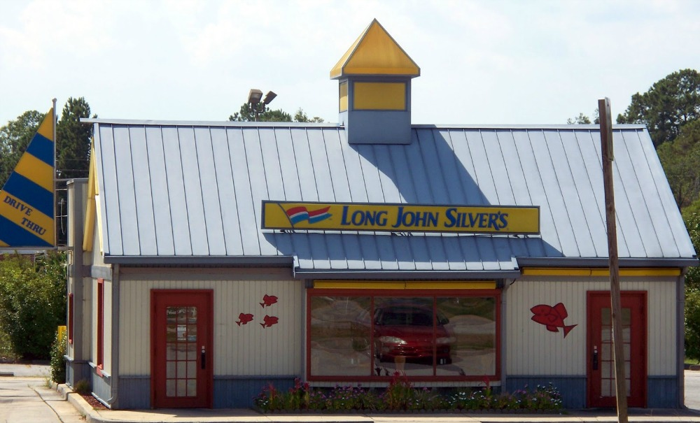 LONG JOHN SILVERS SEAFOOD THOMSON GEORGIA Washington Road I-20, Long John Silvers Fast Sea Food Restaurant McDuffie County GA.
