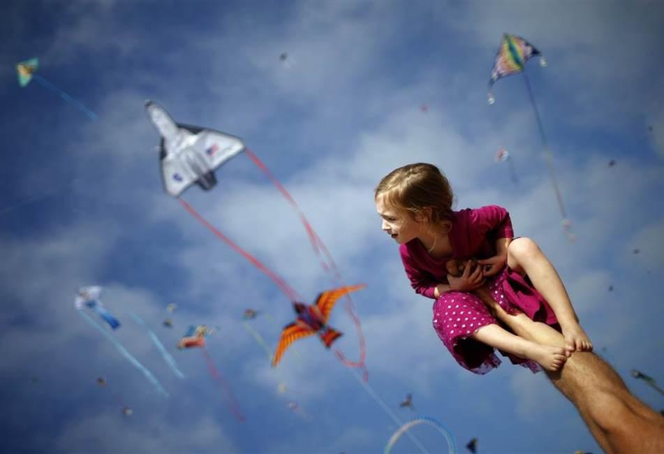 Kites at  Redondo Beach, Calif.