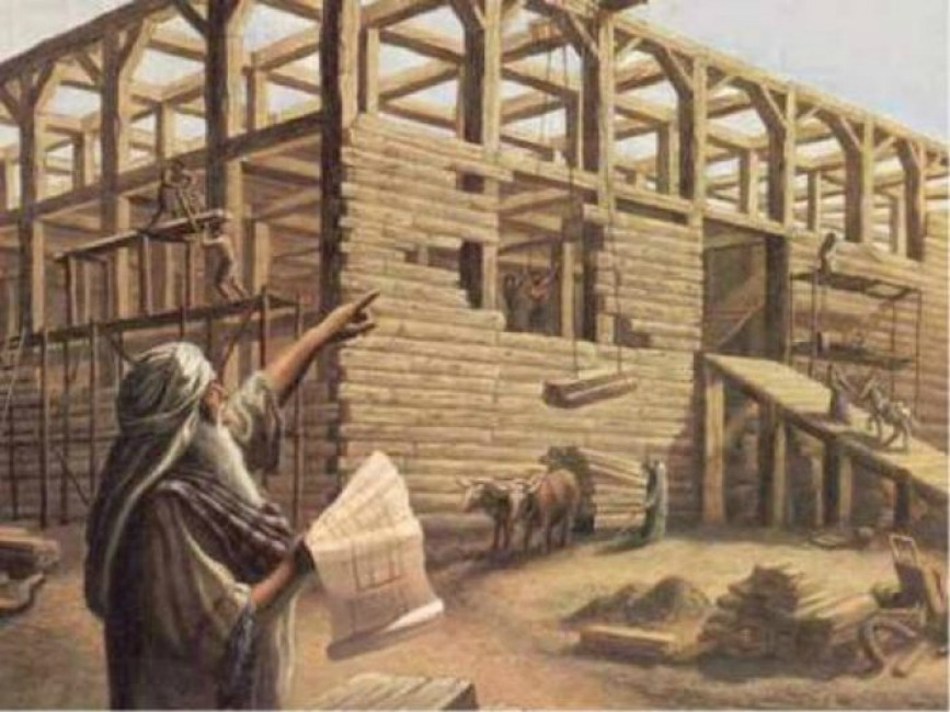 Noah-building-the-ark