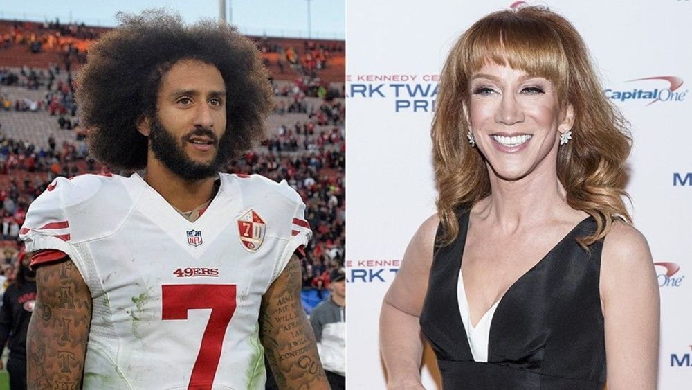Kathy Griffin is behind Colin Kaepernick... up to a point ...